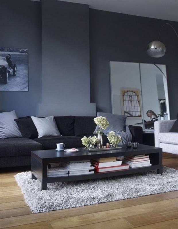 Черная гостиная: топ-70 лучших идей дизайна и интерьера