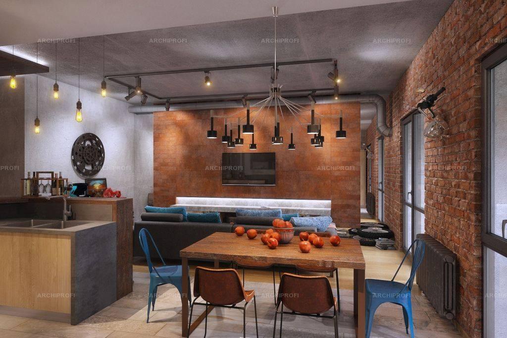 Кухня в стиле лофт 2021. 100 удачных идей. тренды. новинки