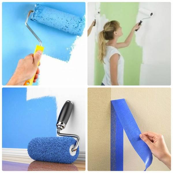 Водоэмульсионная краска для стен: покраска своими руками