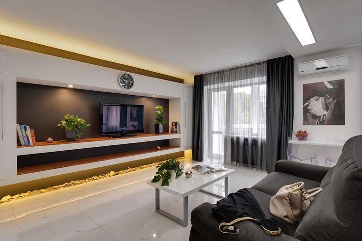 Варианты дизайна гостиных комнат в современном стиле площадью 18 кв м