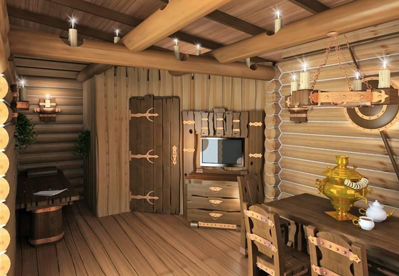 Комната отдыха в бане (85 фото): дизайн интерьера и отделка внутри бани и сауны со спальней, кухней и без них. обустройство комнаты отдыха с предбанником