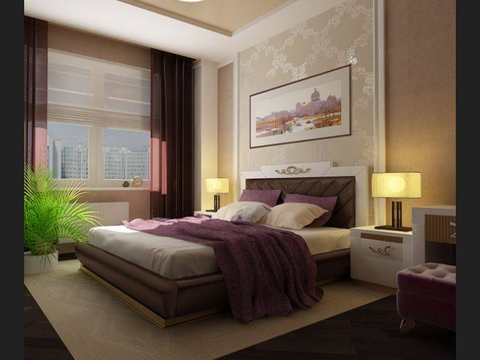 Коричневая спальня: реальные фото, практические советы