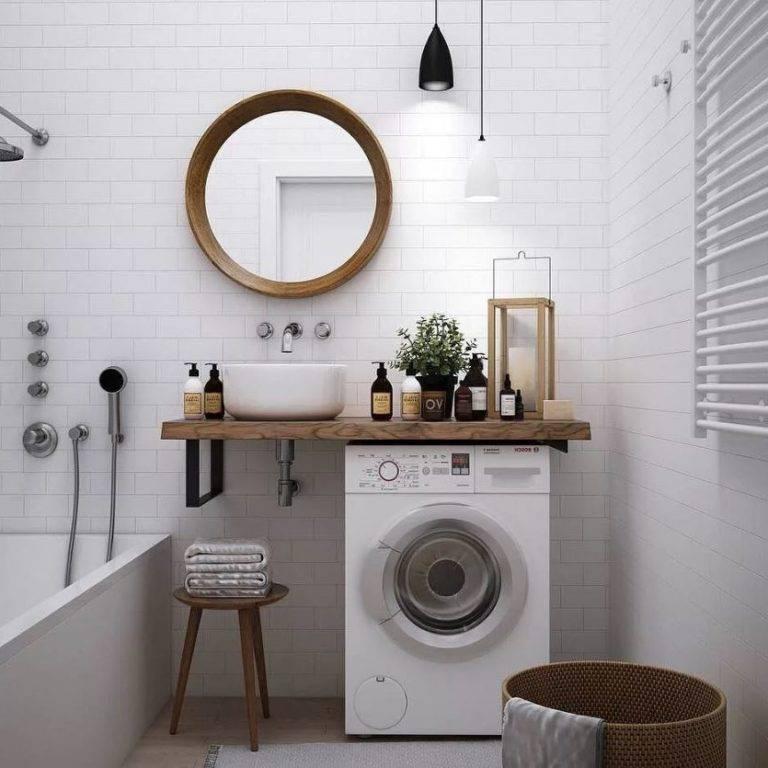 Ванная в скандинавском стиле: 57 фото в интерьере