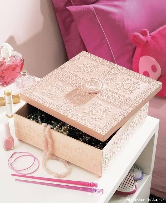 Декорирование коробок своими руками - краткая инструкция и варианты оформления с фото