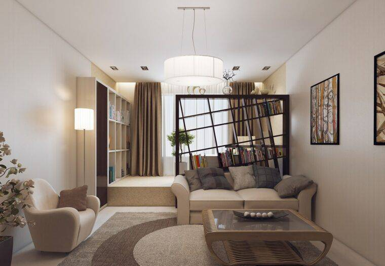 Зонирование гостиной и спальни: варианты дизайна и советы (50 фото) | дизайн и интерьер