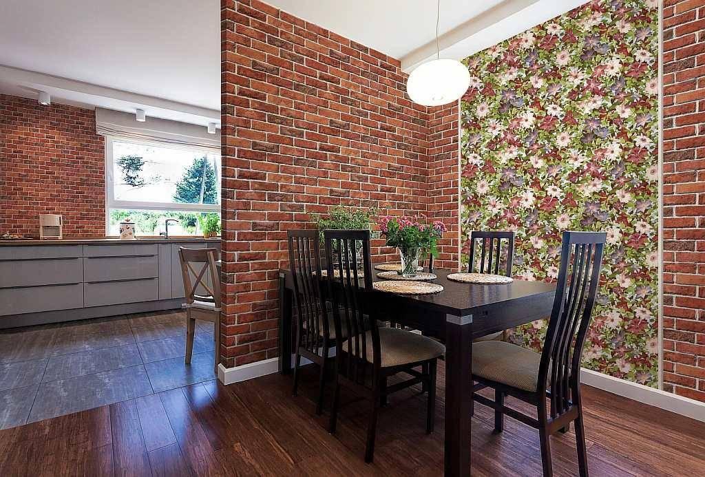 Кирпич в гостиной (47 фото) - как отделать стену кирпичом и обоями под кирпич? | дизайн и интерьер