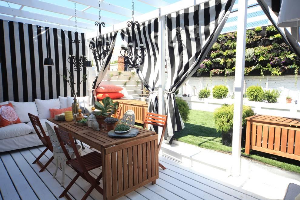 Выбираем шторы для летней беседки, террасы или веранды