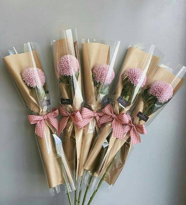 Как красиво оформить букет цветов своими руками фото
