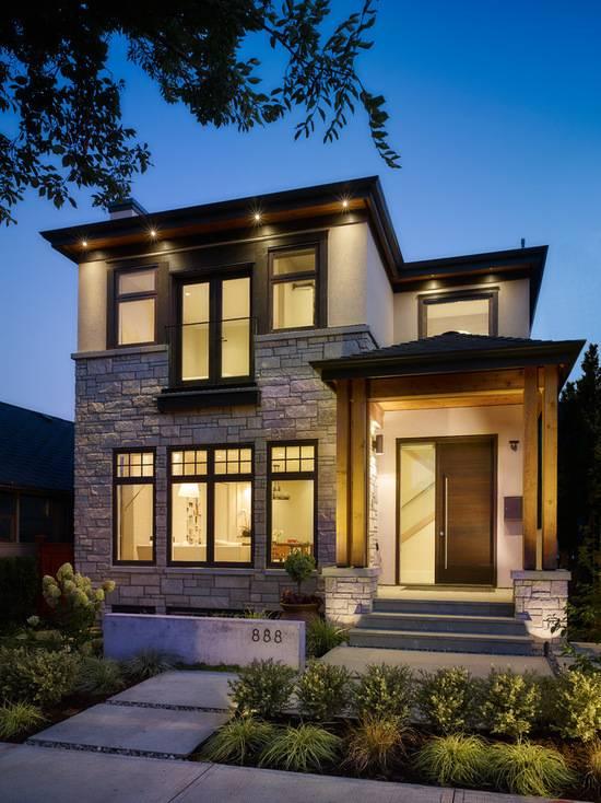 100 вариантов дизайна: красивые фасады одноэтажных домов фото