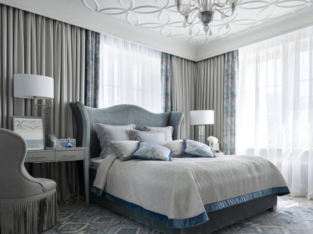 Спальня с двумя окнами - 60 фото вариантов оформления в интерьере