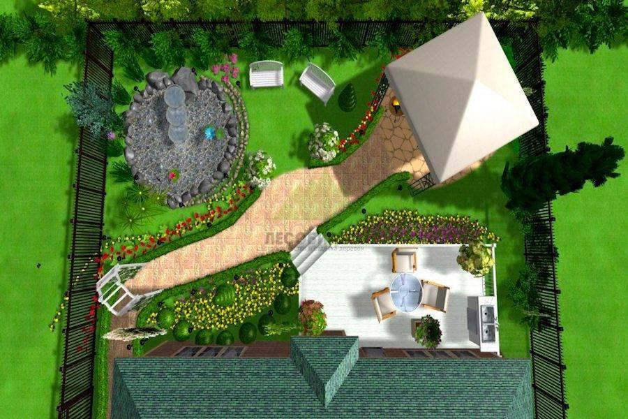 Планировка участка — секреты размещения и правильная планировка ландшафтного дизайна (140 фото)
