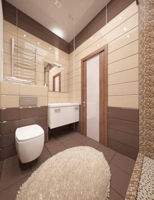 Дизайн бежевый цвет ванной комнаты