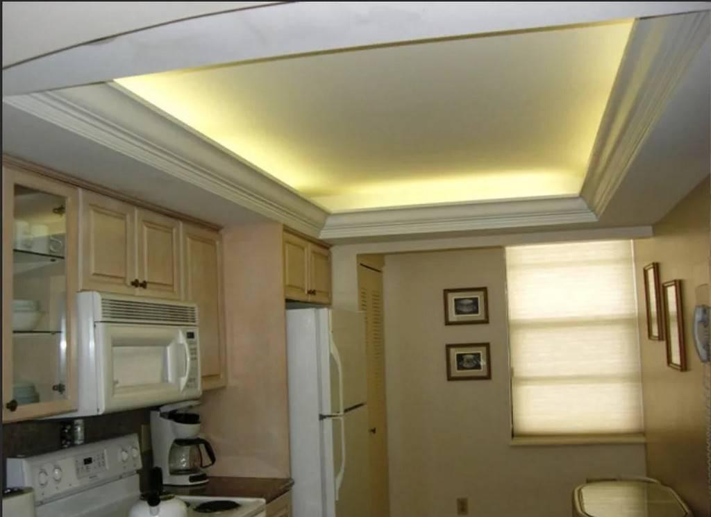Фото потолков из гипсокартона на кухню