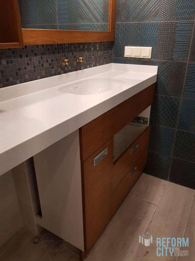 Как выбрать столешницу в ванную комнату? лучшие идеи, оптимальные материалы и реальные варианты использования в интерьере (135 фото и видео)