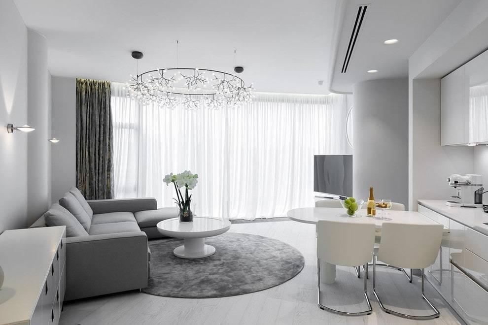 Идеи дизайна квартиры в белом цвете с фото