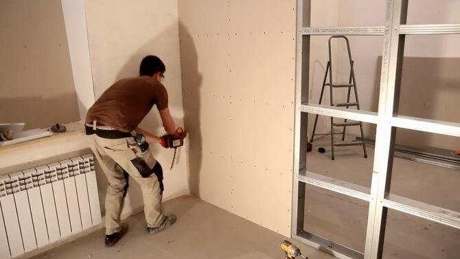 Как сделать стену из гипсокартона с дверным проемом для чайников