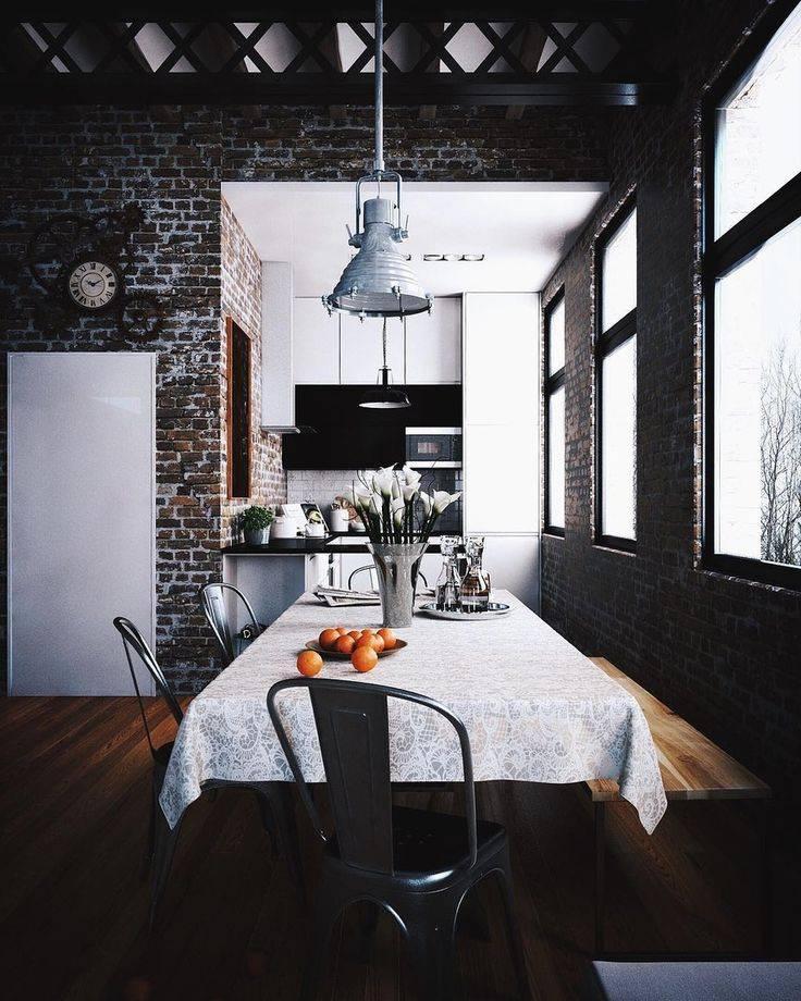 Кухня в стиле лофт: 110 фото, примеры стильных интерьеров, идеи дизайна маленьких кухонь и совмещённых с гостиной