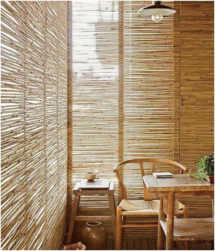 Бамбук в интерьере - 100 фото и видео как правильно использовать бамбук