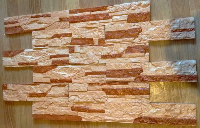 Декоративный камень из гипса: как сделать самостоятельно и наклеить на стену