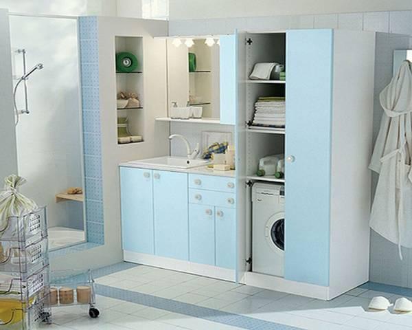 Шкаф для стиральной машины в ванную комнату: со встроенной сушильной и стиральной машинкой, модели от ikea