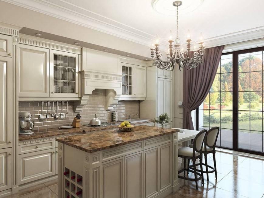 Кухня в классическом стиле: дань традициям в современном интерьере (110 фото)