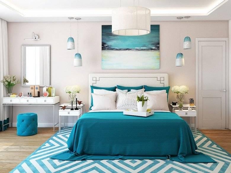 Голубая спальня: новинки дизайна, примеры оформления спальни в голубых оттенках (145 фото идей и вариантов)