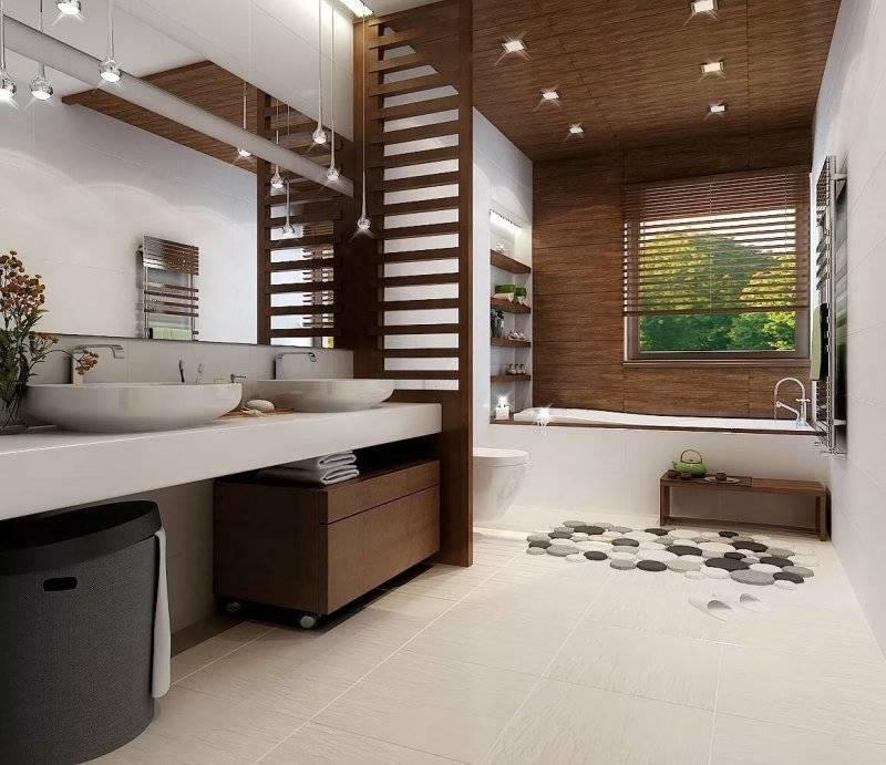 Обустройство интерьера ванной комнаты в частном доме