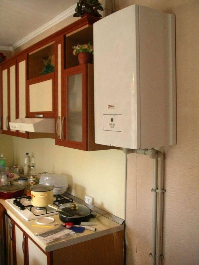 Газовый котел на кухне: 25 примеров, как обыграть в интерьере