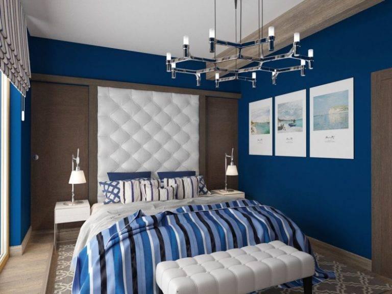 Синяя спальня: 100 фото лучших идей и новинок дизайна