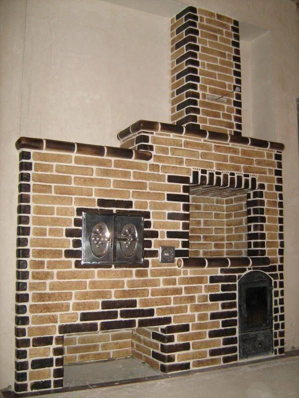 Как сделать печь не только полезной, но и красивой: облицовка керамической плиткой