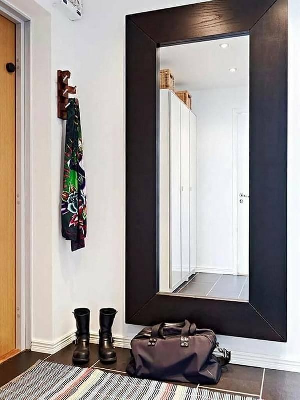 Дизайн прихожей с зеркалами: оформление красивыми большими зеркалами, каких размеров лучше выбрать