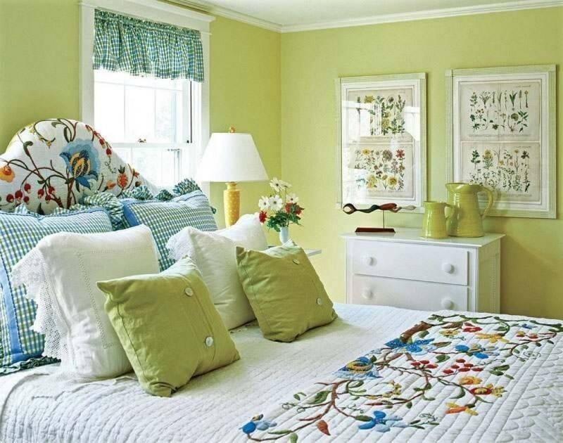 Зеленая спальня: идеи и советы по созданию уютного интерьера (60 фото)   дизайн и интерьер