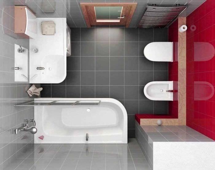Ванная комната 3 кв метра: без туалета, с туалетом и стиральной машиной, с душевой кабиной, особенности планировки, дизайн интерьера, реальные фото