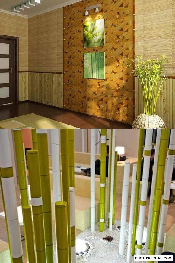 Бамбук в интерьере - применение в декоре +50 фото