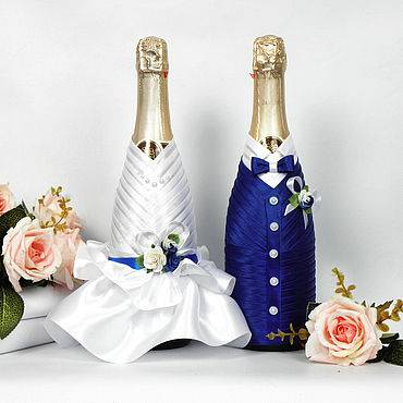 Когда пить шампанское со свадьбы? варианты украшения свадебных бутылок своими руками.