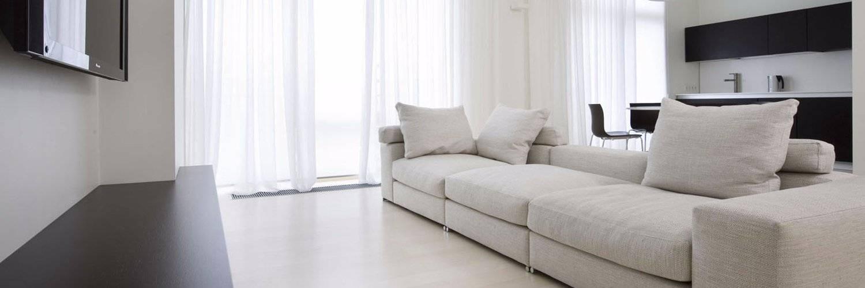 Цвет мебели молочный дуб - фото в интерьере