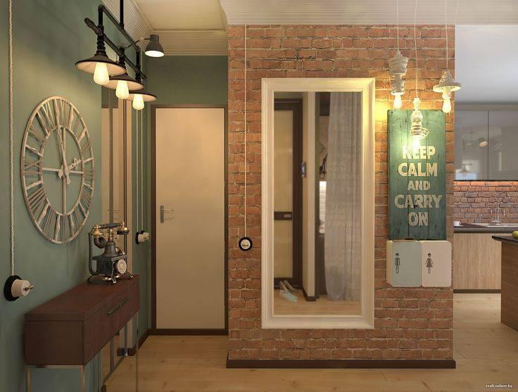 Интерьера прихожей и коридора в стиле лофт