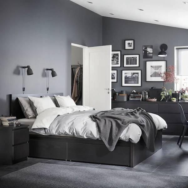 Черная спальня: лучшие современные идеи (+45 фото) | дизайн и интерьер