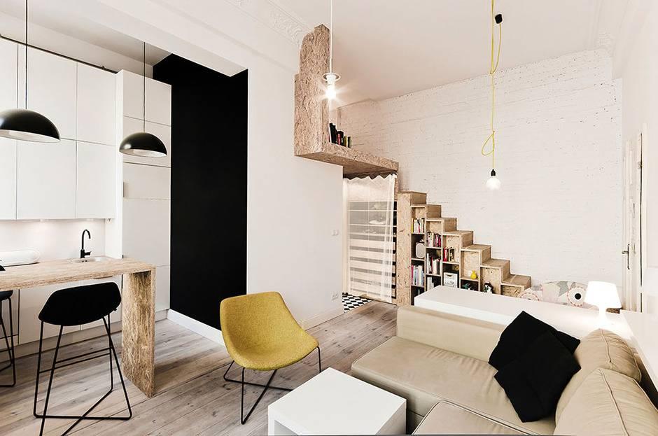 Дизайн студии 23 кв. м - планировка и интерьера +50 фото