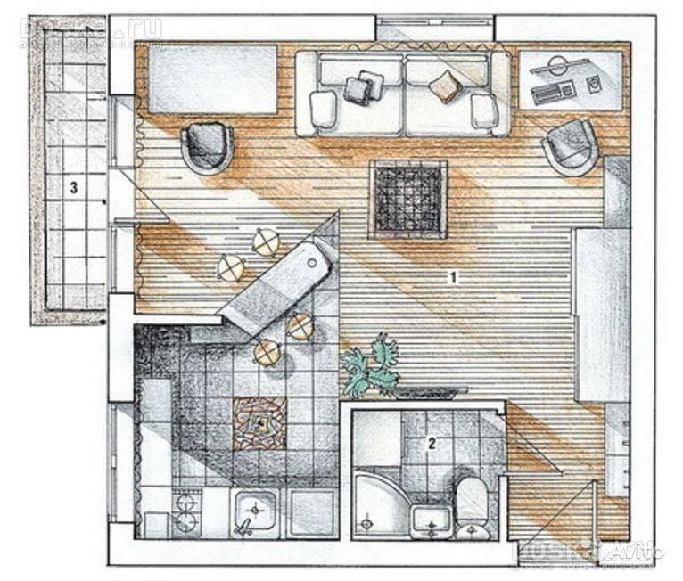 Дизайн квартиры 30 кв. м. фото однокомнатной и квартиры студии, хрущевки