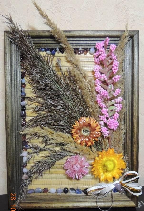 Мои панно из сухоцветов | страна мастеров