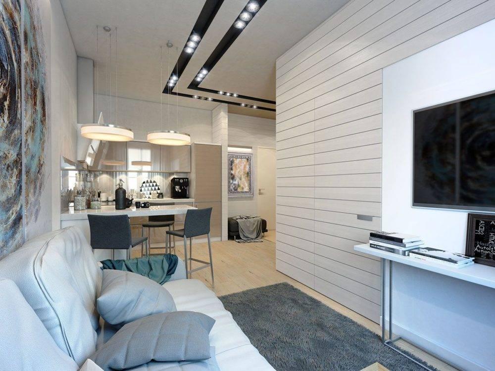 Дизайн однокомнатной квартиры 36 кв. м - 120 фото в интерьере современной квартиры
