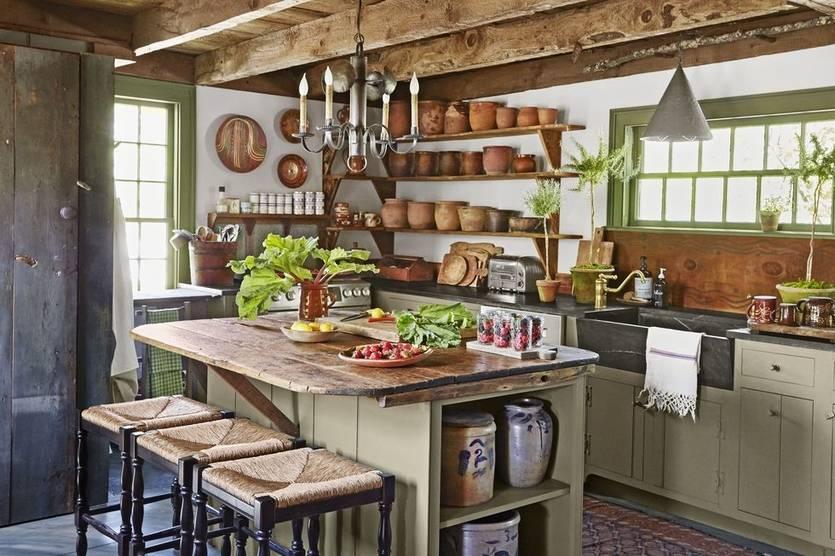 Кухня в стиле кантри - 105 фото лучших дизайнерских решений
