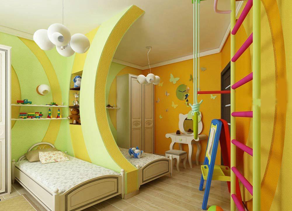 Детская комната для мальчика и девочки вместе: 100 фото дизайна интерьера, мебель