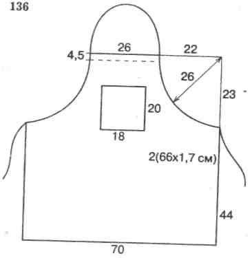 Выкройка фартука - 5 класс технология с нагрудником: описание изготовления кухонного фартука