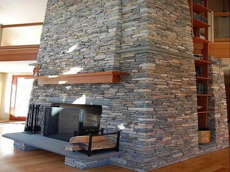 Как отделать камин: облицовка плиткой, искусственным камнем