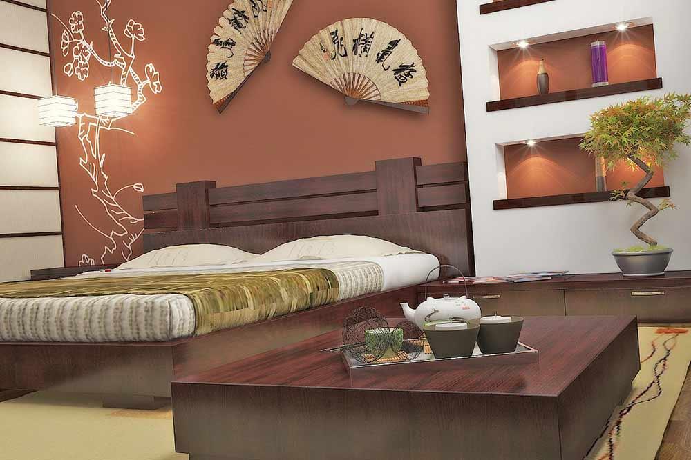 Дизайн интерьера спальни в японском стиле: 20 интересных фото