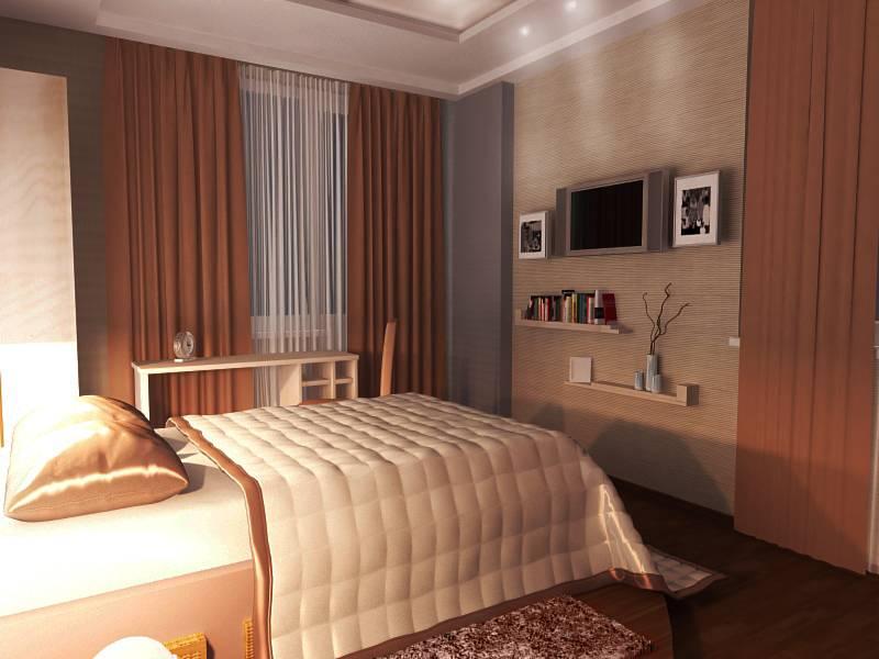 Узкая спальня: советы и идеи по обустройству (45 фото)   дизайн и интерьер