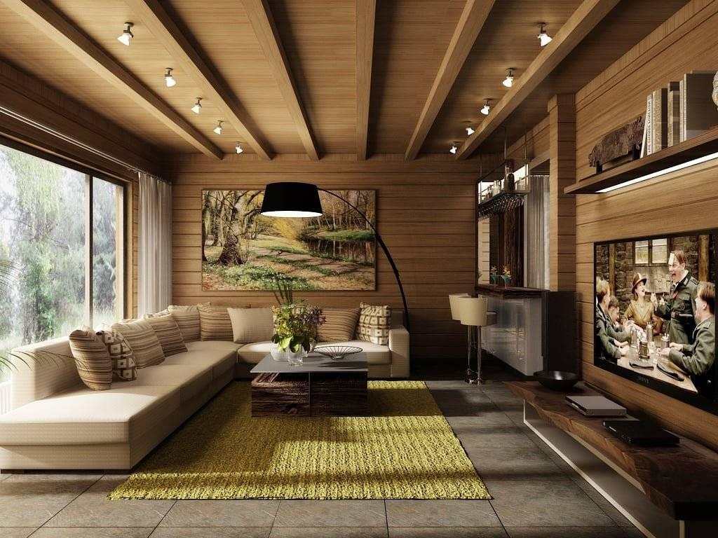 Интерьер дома из бруса: возможные стилистические направления и фото с примерами оформления
