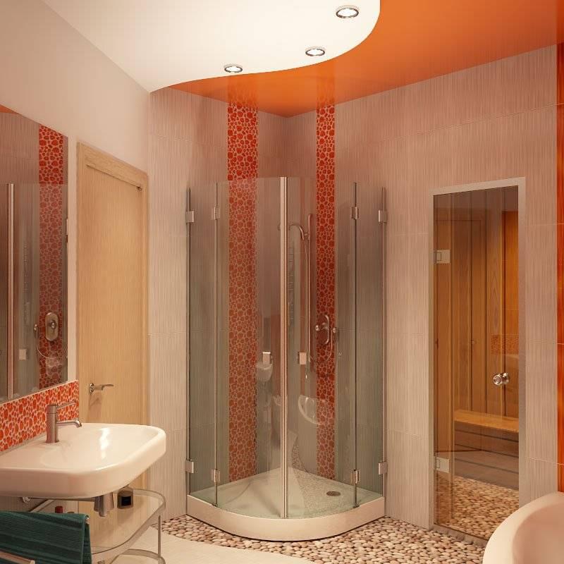 Каждый метр использован с фантазией: планировка и размещение ванных с душевыми кабинами на фото